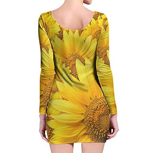 Queen of Cases - Robe - Motifs - Manches Longues - Femme jaune jaune taille unique