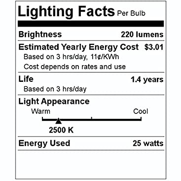 G E LIGHTING 66104 Candelabra Shaped Bulb 25W Clear 3M