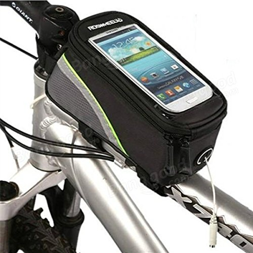 Roswheel bicycle bike frame front tube bag for 4.2 inch cell phone ( Blue ) by Freelance Shop SportingGoods (Image #2)