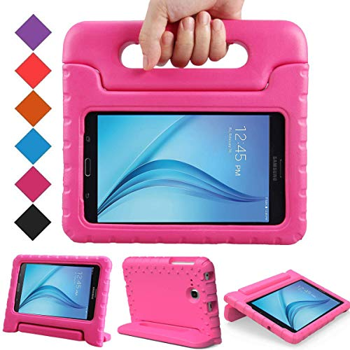 BMOUO Kids Case for Samsung Galaxy Tab E Lite 7.0 Inch - ShockProof Case Light Weight Kids Case Super Protection Cover Handle Stand Case for Children for Samsung Galaxy Tab E Lite 7 Inch Tablet - Rose (Galaxy Kids Tab 3)