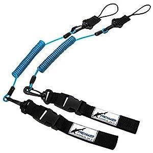 PROYAKER Ocean Hard Kayak Accessories Set of 2 Universal Paddle / Fishing Rod Leash By Proyaker