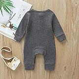MiliMaDa Newborn Unisex Baby Boy Girl Button Solid