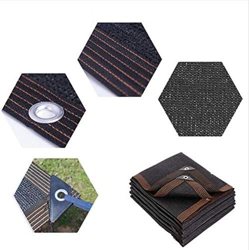 遮光ネットアイホール付きブラック遮光日焼け止め、植物保護用遮光ネット、温室、プール、納屋、犬小屋
