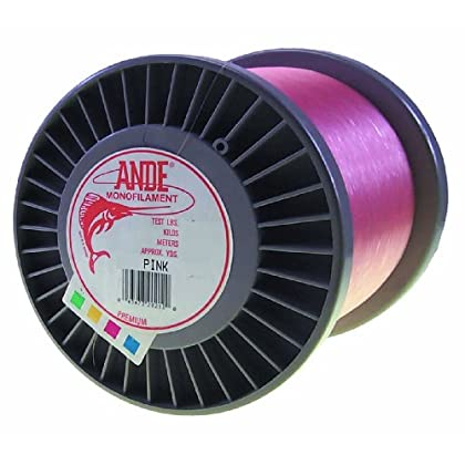 Image of ANDE Premium Monofilament Line with 80-Pound Test, Pink, 3-Pound Spool (1800-Yard) Monofilament Line