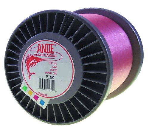 ANDE Premium Monofilament Line with 80-Pound Test, Pink, 3-Pound Spool (1800-Yard) by ANDE