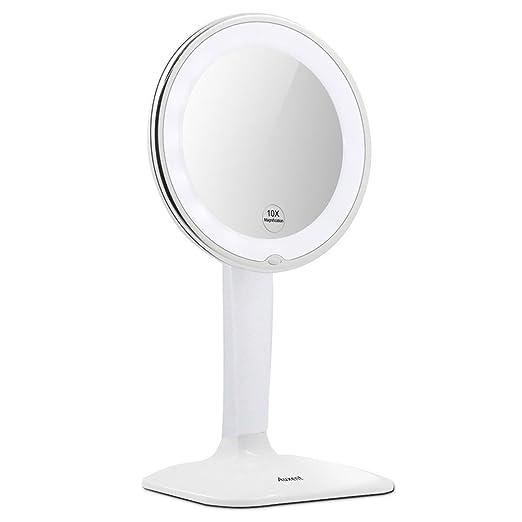 5 opinioni per Auxent Specchio LED per Makeup con con ingrandimento 10X Specchio Vanity
