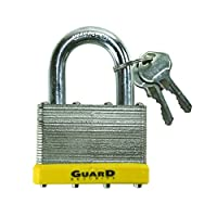 Guard Security 764 Laminated Steel Padlock with 2-5/8-Inch Standard Shackle