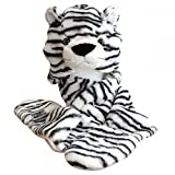 White Tiger_(US Seller)Plush Hat+Earmuff+Scarf and Gloves / Mitten