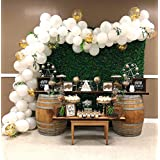 Balloon Garland Arch Kit 16Ft Long White and Gold Latex Balloons Pack for Baby Shower Bridal Shower Birthday Party Centerpiece Backdrop Decorations