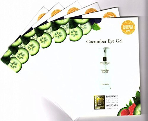Cucumber Eye Gel Card Sample Set of 6 Travel Size