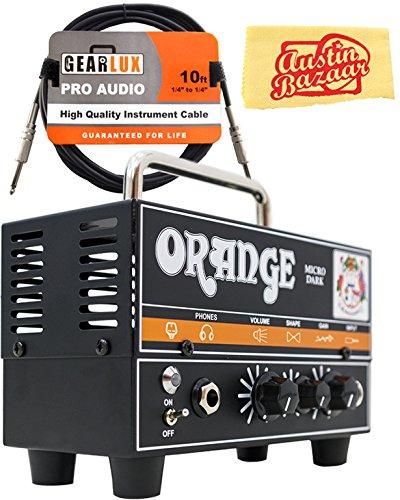 Orange MD20 Micro Dark 20-Watt Mini Guitar Amplifier Head Bundle with Instrument Cable and Austin Bazaar Polishing Cloth by Orange (Image #9)
