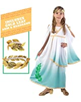 Deluxe Greek Goddess Child Costume Set by Spooktacular Creations