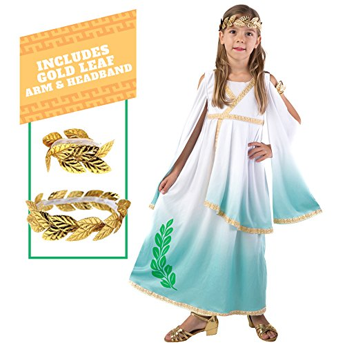Kids Greek Goddess Costumes (Spooktacular Creations Deluxe Greek Goddess Costume Set (M(8-10)))