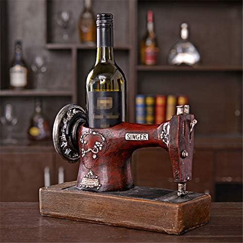 ZSY Home Vintage Máquina Coser Modelo Wine Rack Resina Escultura ...