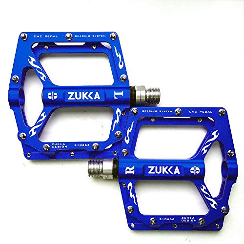 ZUKKA Bike Pedals,Mountain Bicycle Pedal Sets,Aluminum Alloy CNC Cycling Sealed 3 Bearing 9/16