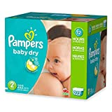 3 Layers Of Protection, Economy Pack Plus Size 2 Disposable Diapers, (222-Count)