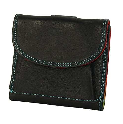 belarno-a206-leather-small-french-purse-black-with-multi-color-interior