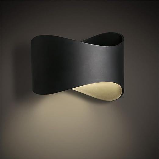 Atmko Aplique de Pared Lámpara de Pared Apliques Modernos de Pared lámpara Pared Aplique Dormitorio Escalera Pasillo iluminación ABS Alta transmitencia Pantalla Hierro Apliques de Pared LED, A: Amazon.es: Hogar