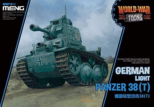 War Panzer German (MNGWWT011 Meng World War Toons - German Light Tank Panzer 38(T) [Model Building KIT])
