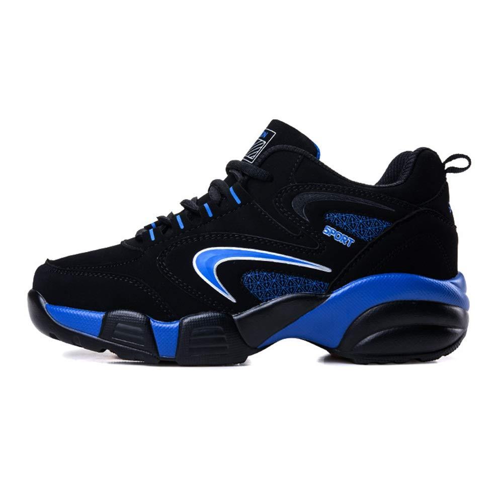 Jincosua Große Stiefel Stiefel Stiefel für Herren, lässig, Rutschfest, langlebig, weiche Sohle, Schnürstiefel, blau, EU 34 6f453c