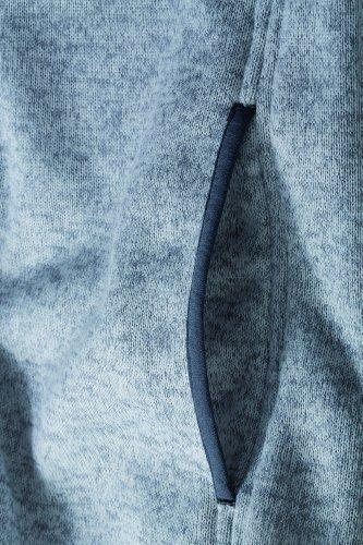 James & Nicholson - Forro polar de punto con capucha para mujer gris