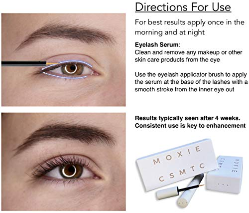d4395d24241 Eyelash Growth Serum and Eyebrow Enhancer | Boost Natural Lash and Brow  Hair Growth | Grow Longer, Thicker, Fuller, Luscious Eyelashes and Eyebrows  with ...