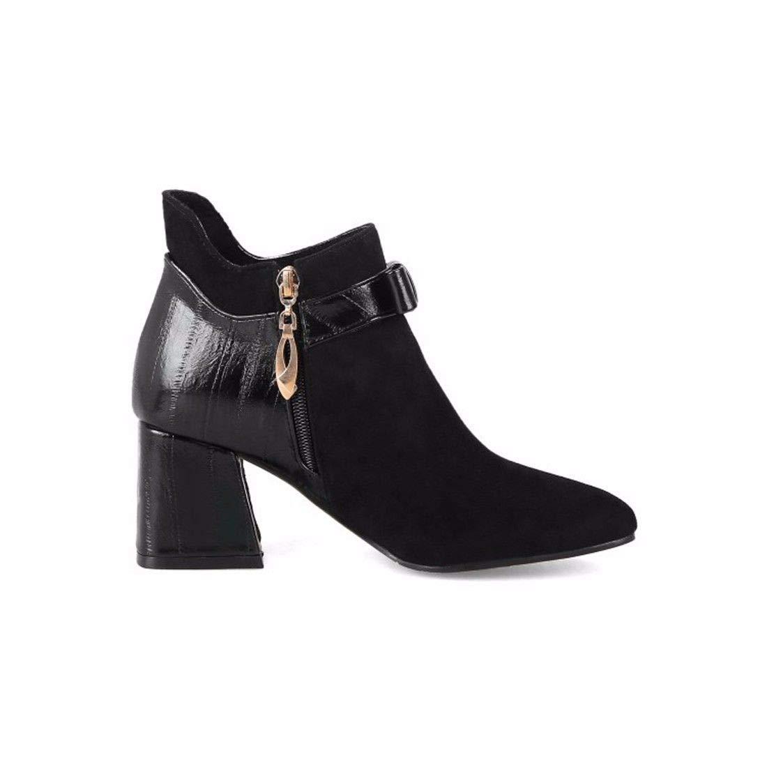 AIKAKA Frauen Herbst und Winter Europa und und und Amerika Sexy warme High Heel Schuhe Kurze Stiefel  a8599b