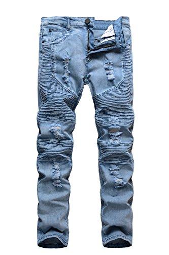 light blue ripped skinny jeans - 5