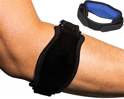 (Premium Tennis / Golf Elbow Brace - Gel Compression Strap)