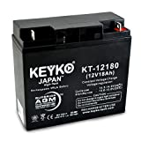 APC RBC50 SMART-UPS SU1000XL NET UPS Battery 12V 18Ah SLA Sealed Lead Acid AGM Rechargeable Replacement Battery Genuine KEYKO ® (W/ Nut & Bolt Terminal) - 4 Pack