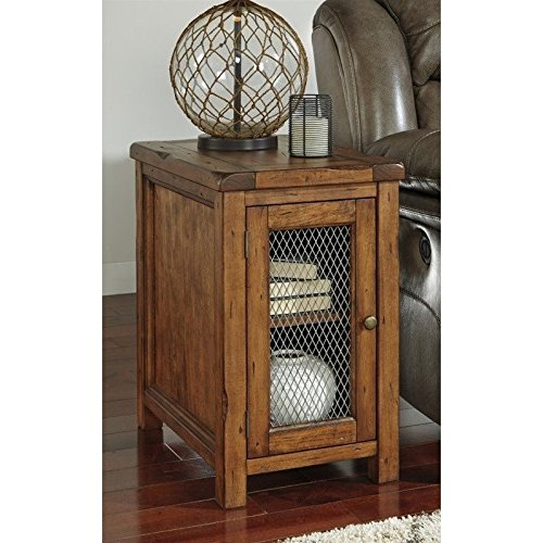 Signature Design by Ashley T830-7 Tamonie Chair Side End Table, Medium Brown (Inside Furniture Mile End)