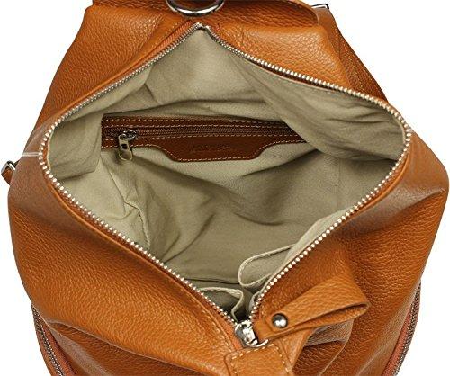 Neue Hand Tasche - Bolso mochila  para mujer Beige marrón claro