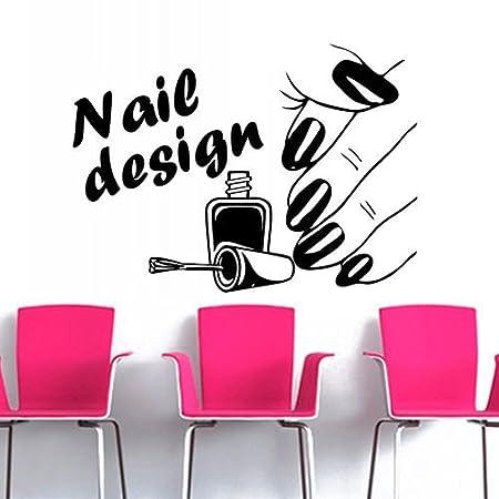 Wall Sticker Vinyl Nails Salon Nail Polish Nail Art Design Manicure ...
