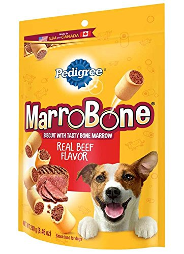 PEDIGREE MARROBONE Real Beef Flavor Snacks for Dogs 8.46 oz. (Pack of 6)