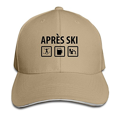 Apres Ski Triathlon Adjustable Sandwich Peaked Baseball Cap - York Triathlon New Shop