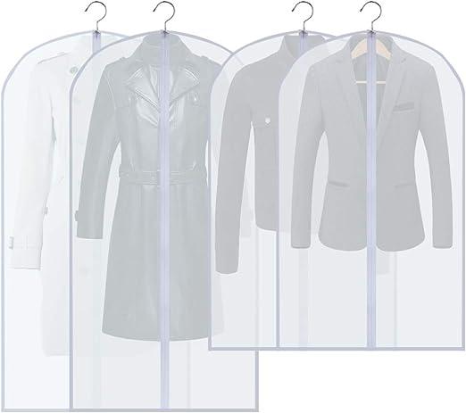 """5//10pcs 24/""""x47/"""" Garment Bag Suit Storage Cover Dress Clothes Coat Dust Protector"""