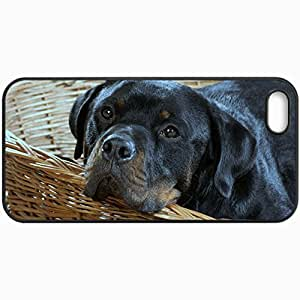 Fashion Unique Design Protective Cellphone Back Cover Case For iPhone 5 5S Case Dog Muzzle Rottweiler Black