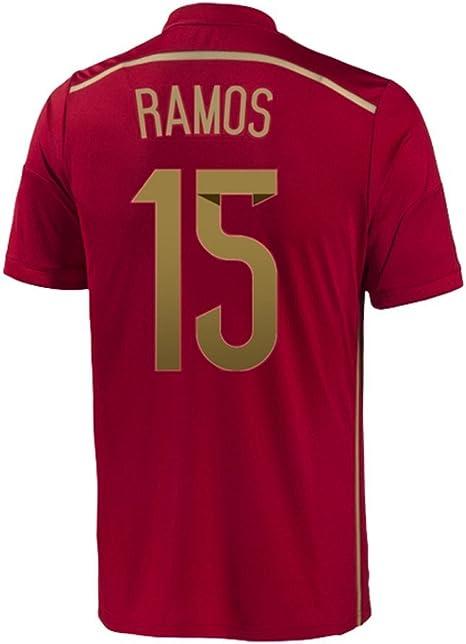 adidas Sergio Ramos #15 España Camiseta 1ra Copa Mundial (S): Amazon.es: Deportes y aire libre