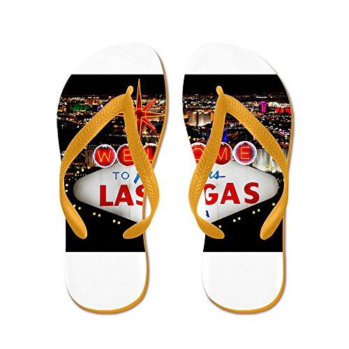 Cafepress Las Vegas - Flip Flops, Grappige String Sandalen, Strand Sandalen Oranje