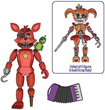 Five Nights at FreddyS: Pizza Simulator Rockstar Foxy Figura de acción de 5 Pulgadas: Amazon.es: Juguetes y juegos
