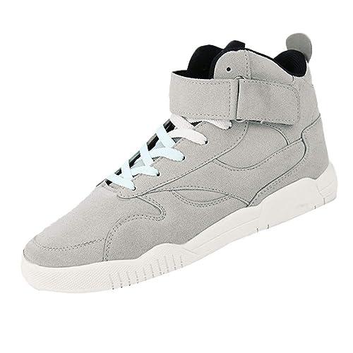 Logobeing Zapatillas Hombre Calzado Deportivo Casual Baloncesto Antideslizante Sneakers Cómodos Zapatos de Lona Alto: Amazon.es: Zapatos y complementos
