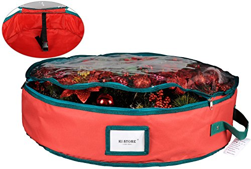 Wreath Storage Container Bag With Clear Lid Ki Store 30