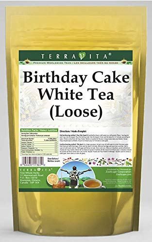Amazon Birthday Cake White Tea Loose 8 Oz ZIN 535182