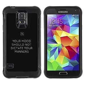 Suave TPU GEL Carcasa Funda Silicona Blando Estuche Caso de protección (para) Samsung Galaxy S5 V / CECELL Phone case / / keep manners mood calm keep text /