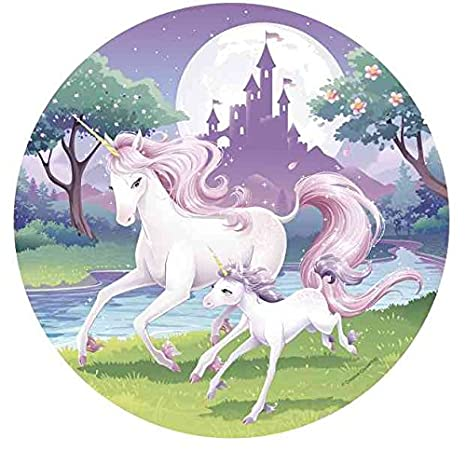Tortenaufleger Geburtstag Tortenbild Zuckerbild Einhorn Unicorn Pferd