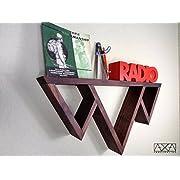 SINGLE Solid Black Walnut Three Mountains Triangle Display Shelf