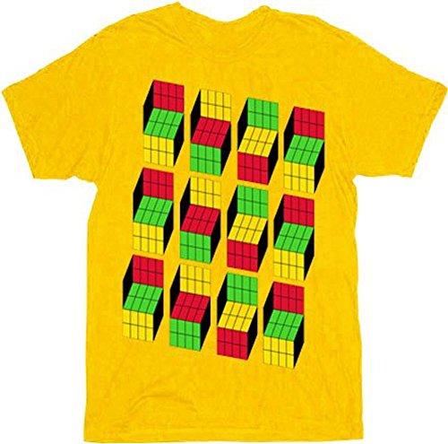 The Big Bang Theory Sheldon Cooper Opti Blocks Adult Mustard T-Shirt