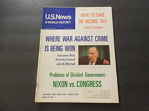 US News World Report Mar 22 1971 Divided Government; War On Crime