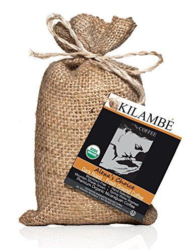 Kilambé Coffee, Super Premium Gourmet Nicaraguan Coffee, Certified USDA Organic, Single Source, Fairly Traded, High Mountain, Spring Washed, Mycotoxin Free, Kosher 12 Oz. (Dark Roast, Fresh Grounds)