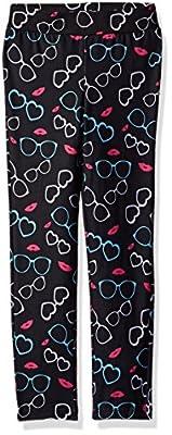 Dream Star Girls' Sunglass-Lips Printed Super Soft Capri Leggings